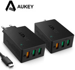 Aukey USB Wall Charger PA-T14 Quick Charge 3.0 EU & US Plug $21.16 AUD ($14.96 USD) Delivered @ AliExpress