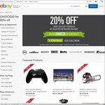 20% off Selected Retailers on eBay (PC Byte, Telstra, Sony, Grays Online, Betta, COTD, Shopping Square, Futu, Dell + More)