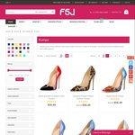 20% off on All Pumps + Free Shipping @Fsjshoes