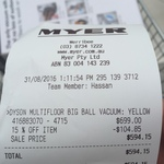 15% off Dyson Vacuums @ Myer