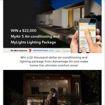 Win a MyAir5 Reverse Cycle Air Conditioning & Lighting System Worth $22,000 from Advantage Air [WA]