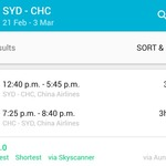Sydney to Christchurch, New Zealand Return $305 @ China Airlines (Feb-March) via Skyscanner