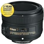Nikon JAA015DA AF-S 50mm F/1.8g Prime Camera Lens with AUST NIKON WARRANTY $215.88 @ No Frills Sydney eBay