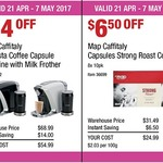 Map Caffitaly Bravista Coffee Capsule Machine w/ Milk Frother by Saeco $54.99 (RRP $340), Map Caffitaly Pod 80pk $24.99 @ COSTCO