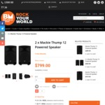 2x Mackie Thump 12 Powered Speaker $759.05 with coupon @ Belfield Music