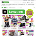 Harris Scarfe Online Flash Sale. 50% off All Cookware/Cutlery/Bedding/Luggage 40% off Manchester/Homewares/Footwear + More