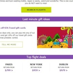 10% off $1,000 STA Travel Gift Cards (in Store Only)