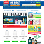 Up to 8 Free Sample Products When Spending $30+ @ Chemist Warehouse