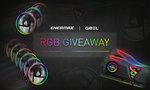 Win Geil Super Luce RBG 16GB (8gbx2) DDR4 3000 Memory or 1 of 2 Enermax 120mm Case Fan Packs from Geil Memory/Enermax