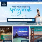 Hilton Honors up to 35% off Flash Sale for Stays through December 31, 2018 (Book March 13 – 19) Southeast Asia and Australasia