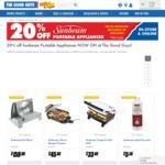 20% off Sunbeam Portable Appliances - Sunbeam ES9600 Deli Slicer $159 (C&C) - in Store & Online @ The Good Guys