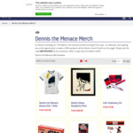 20% off Dennis (Formerly 'The Menace') Merchandise @ Beano