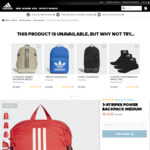 Up to 40% Off with Free Shipping No Min Spend: e.g. Backpack Medium $30 Shipped More @ Adidas