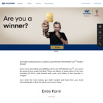 Win 1 of 2 Trips to the 2018 FIFA World Cup Final in Russia for 2 Worth $20,000 or Cash/A-League Ticket Prizes from Hyundai