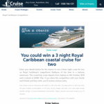 Win a 3N Royal Caribbean Coastal Cruise Onboard Radiance of the Seas (ex Sydney) for 2 Worth $2,000 from Cruise Express