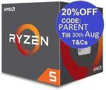AMD Ryzen CPU - Ryzen5 1600 $183.20, Ryzen5 2600 $215.20, Ryzen5 2600X $287.20, Ryzen7 1700 $271.20 Shipped @ Futu Online eBay