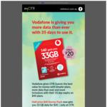 [SA] Vodafone Prepaid 33GB $20 (Was $40) 35 Day Expiry @ On The Run