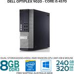 [Refurb] Dell Optiplex 9020 SFF i5-4570 8GB 240GB SSD 320GB HDD AMD Radeon Wi-Fi KB Mouse Win 10 $449.99 @ Bufferstock