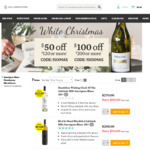 Cellarmasters White Christmas Promo - $50 off $120, $100 off $200 Spend on Selected White Wines
