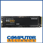 [eBay Plus] 500GB Samsung 970 EVO M.2 NVMe (2280) PCIe SSD $125.10 ($110.10 after Cashback) @ Computer Alliance eBay