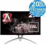 "AOC Agon AG272FCX 27"" FHD 144hz Monitor $303.20 + Delivery (Free with eBay Plus) @ TechMall eBay"