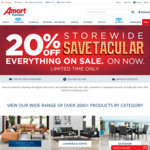 20% off Storewide @ Amart Furniture
