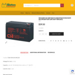 10% off HR1234W 12V 34W 9ah F2 CSB/HITACHI (Sealed Lead Acid Battery) Starting from $38 + Free Shipping @ XBattery