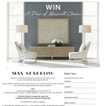 Win a Pair of Ivory Maxwell Chairs Worth $3,790 from Max Sparrow [NSW/QLD/VIC]