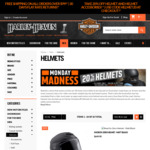 20% off Motorcycle Helmets & Helmets Accessories @ Harley Haven