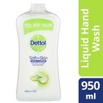 Dettol Anti-Bacterial Hand Wash Moisture or Lemon Lime Refill Disinfecting, 950ml for $3.25 @ Coles