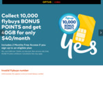 Optus $40/Month 12 Month BYO Plan - 10,000 Bonus Flybuys Points & 2 Months Free Access Fees