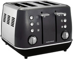 Morphy Richards Evoke Core Black 4 Slice Toaster $69 Delivered or C&C @ Myer