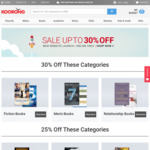 Koorong New Website Launch Sale | 30% off All Fiction, Men's Interest and Relationships Titles | up to 25% off for Other Titles
