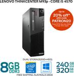 [Refurb] Lenovo ThinkCentre M93p SFF Core i5-4570 8GB 240GB SSD + 320GB HDD Win 10 $220 Delivered @ Bufferstock eBay