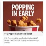 $10 Popcorn Chicken Bucket @ KFC via App