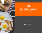 [NSW] 50% off Breakfast @ 52 Martin Place via Heyyou