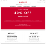 Further 40% off Sale, Free Shipping over $100, Mens Shirts / Ties from $12, Socks $3 @ Country Road / Trenery Outlet