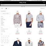 20% off Blazers and Shirts @ POLITIX