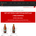 Kona Pale Ale or IPA for $59 Per Case + Free Shipping @ Craft Cartel