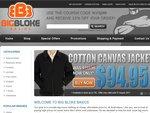 Fathers Day 20% off Big Mens Clothing - BigBlokeBasics.com.au