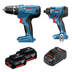 Bosch Blue 18V Hammer Drill and Impact Driver Kit - $150 @ Bunnings