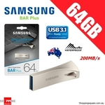 Samsung Bar Plus USB 3.1 Flash Drive 256GB $67.95, 64GB $14.95 + Delivery @ Shopping Square