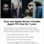 Apple TV+ Free for 1 Year