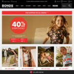 Bonds 40% off Everything with Free Shipping