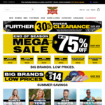 Up to 75% off + Further 30% off Selected Clearance @ Rivers