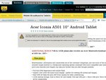 Acer Iconia A501 $479 from Optus