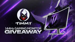 Win a Pixio 144Hz Curved Gaming Monitor from IXITimmyIXI and SweepsGG
