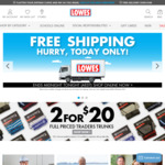 Free Shipping on All Orders, No Minimum @ Lowes