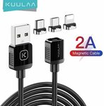 KUULAA Magnetic Charging USB-C Cable 1m US$1.09 (~A$1.42) Delivered @ Kuulaa Factory Store AliExpress