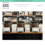 Free Shipping for Roasted Single Origin & House Blend Beans & Brewing Products Orders over $25 @ The League of Honest Coffee